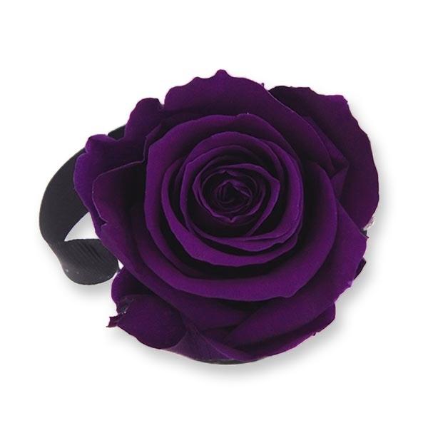 Rosenbox Infinity Rosen dunkel lila | Flowerbox | Blumenbox | XS Modern black
