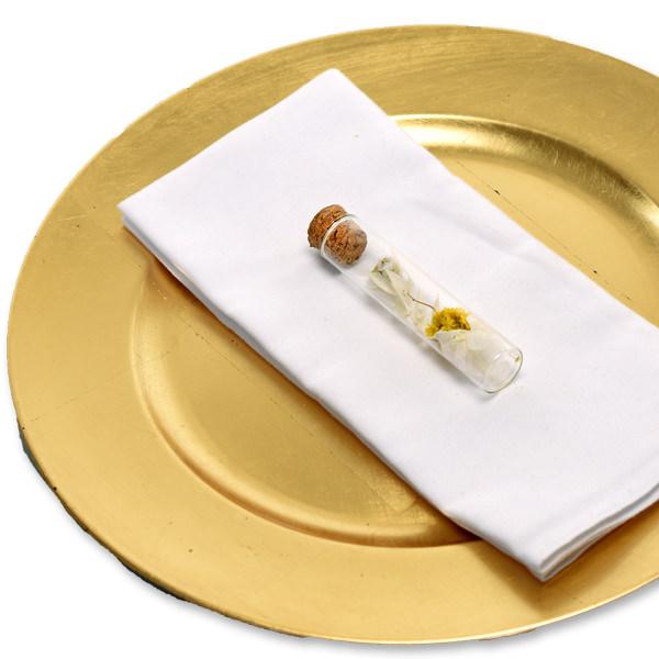 Gastgeschenke weiss gelb (5er-Set)