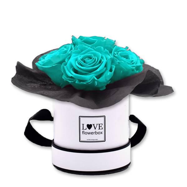 Flowerbox_Kugelfoermig_bouquet_Rund_Small_weiss_Infinity_Rosen_aqua_tuerkis.jpg