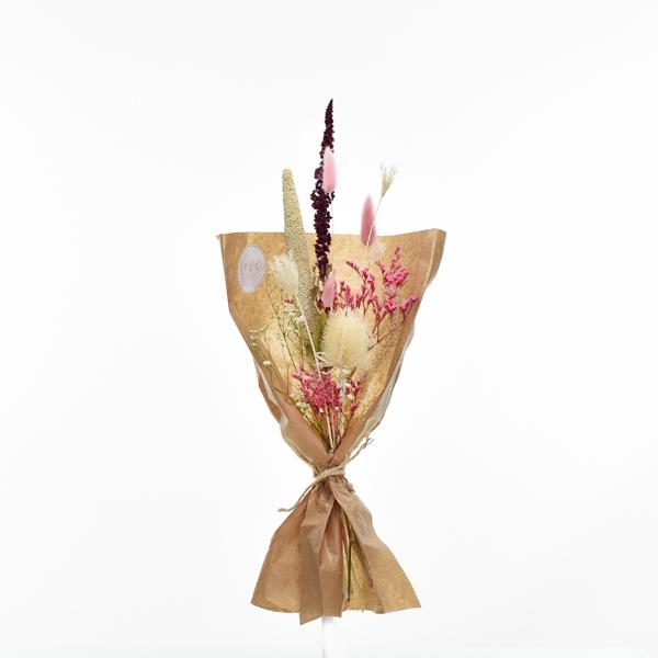 Trockenblumenstrauß Sinnesrausch S | Trockenblumen weiss-natur-rosa-beere-grün