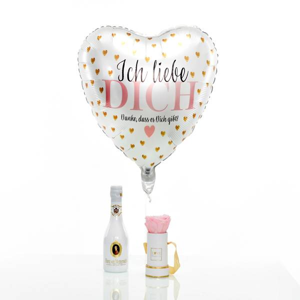 Flowerbox Set Modern | Mini | Rosen Bridal Pink | Heliumballon | Piccolo
