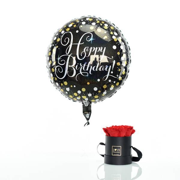 Flowerbox Set Modern | Small | Rosen Vibrant Red | Heliumballon