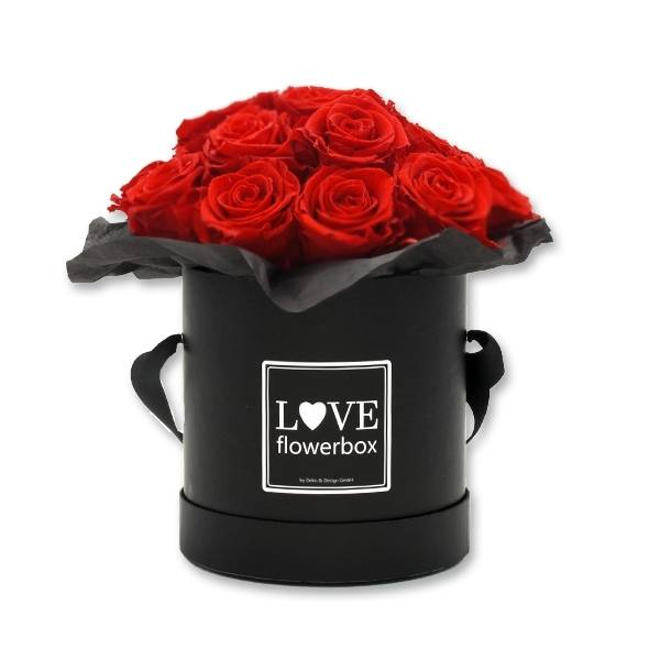 Flowerbox Bouquet | Medium | Rosen Vibrant Red (Rot)