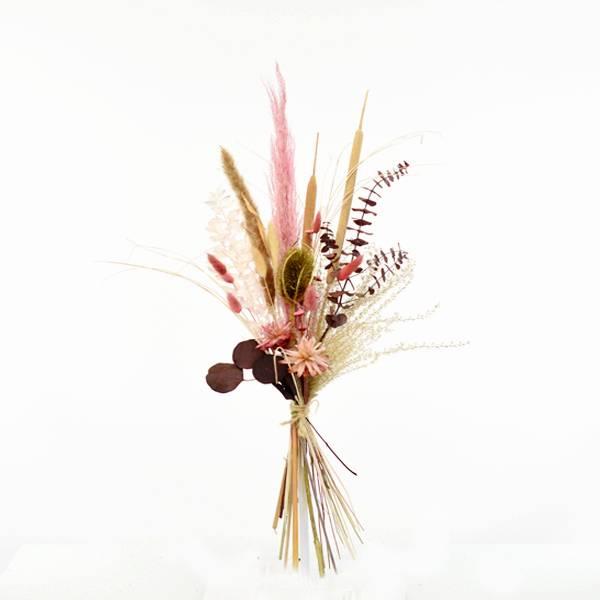 Trockenblumenstrauß Zauberglanz M | Trockenblumen altrosa-beere-gold