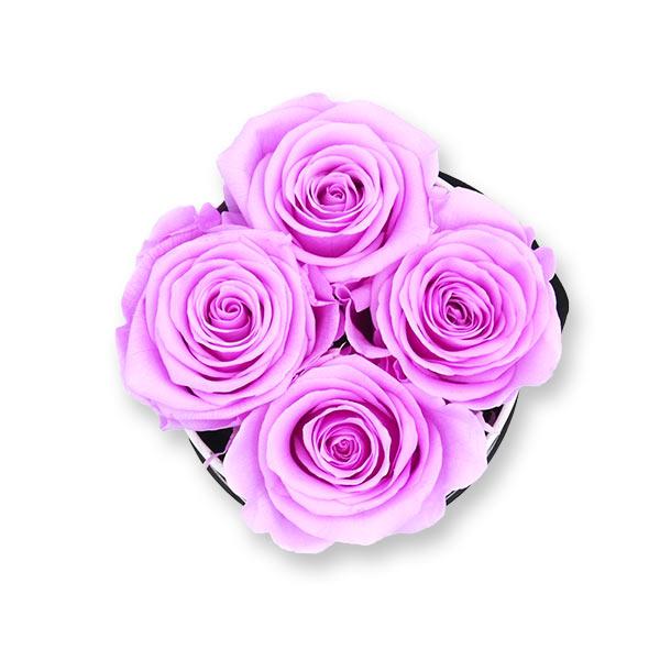 Rosenbox Infinity Rosen flieder | Flowerbox | Blumenbox | S Modern b gold