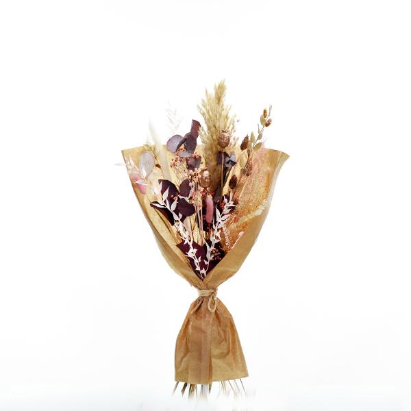 Trockenblumenstrauß Rosegoldglanz M | Trockenblumen rosa-rosegold