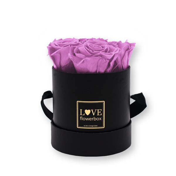 Flowerbox_rosenbox_blumenbox_rund_Small_schwarz_gold_Infinity_Rosen_mauve_altrosa_malve.jpg