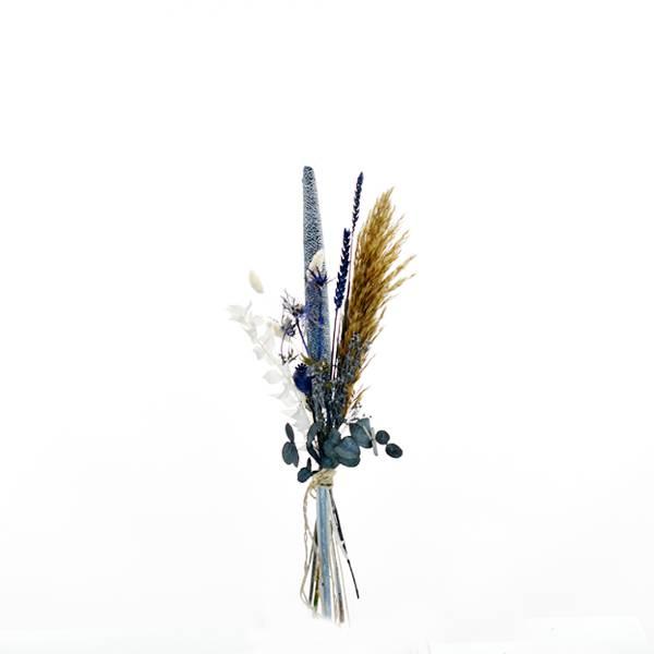 Trockenblumenstrauß Wasserspiel S | Trockenblumen weiss-natur-blau