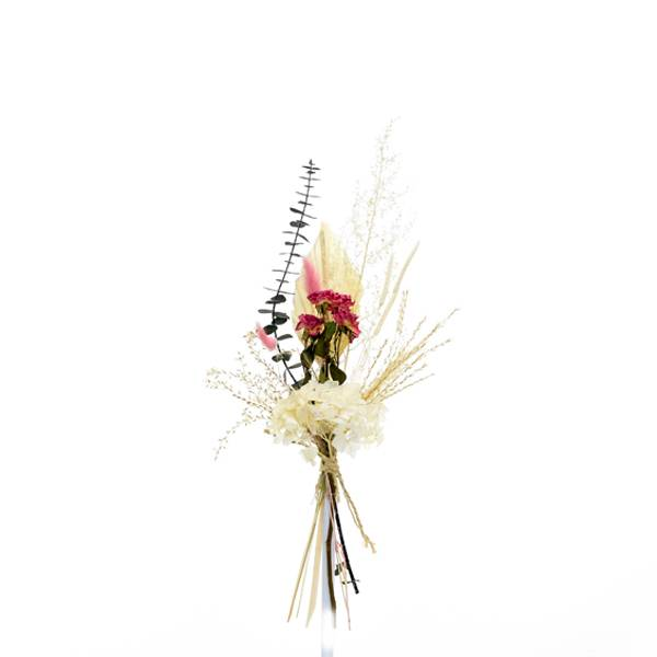 Trockenblumenstrauß Seelenbalsam S | Pampasgras, Palmspear | Trockenblumen weiss-pink-grün