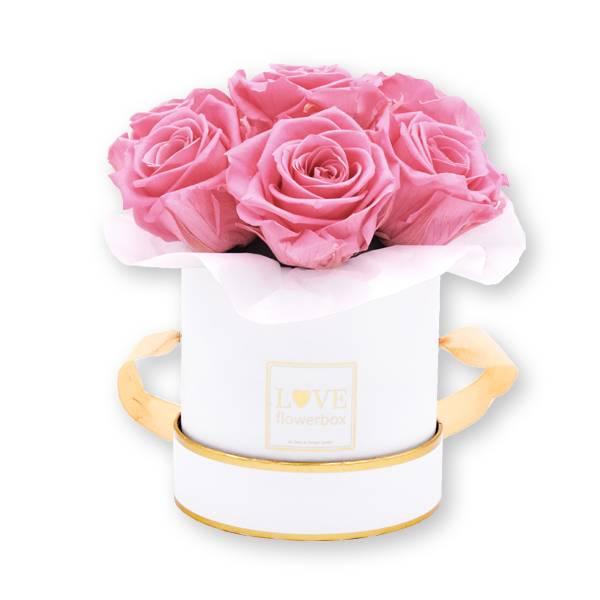 Flowerbox_rosenbox_blumenbox_rund_Small_weiss_gold_Bouquet_Infinity_Rosen_bridalpink_rosa_1.jpg