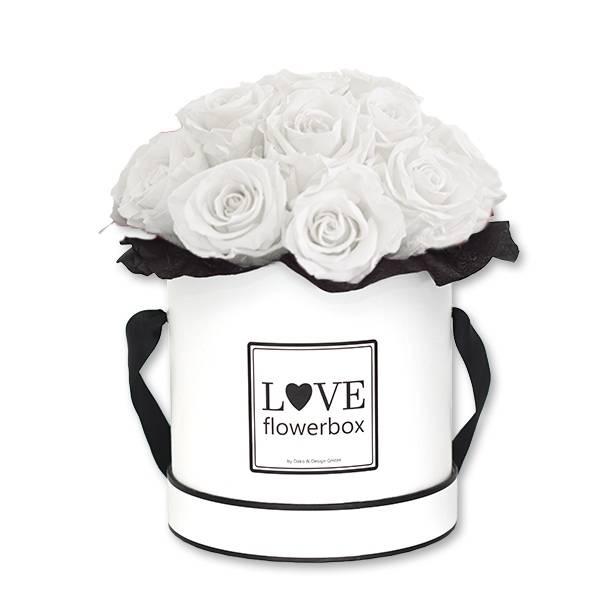 Flowerbox Bouquet | Medium | Rosen Pure White (Weiss)
