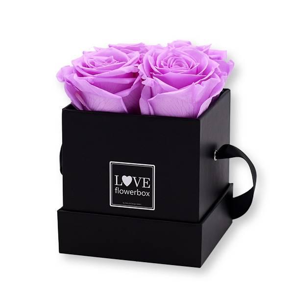 Flowerbox Modern   Small   Rosen Baby Lilli (Flieder)