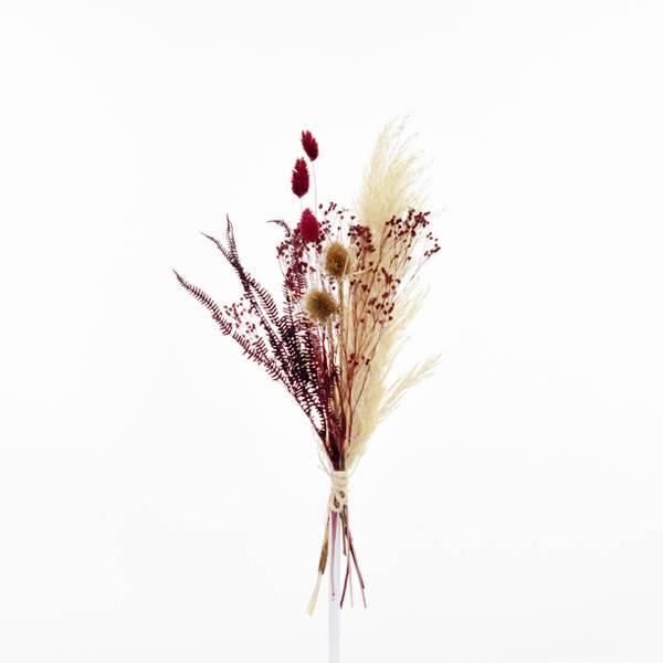 Trockenblumenstrauß Stiller Moment S | Trockenblumen natur-rot-bordeaux