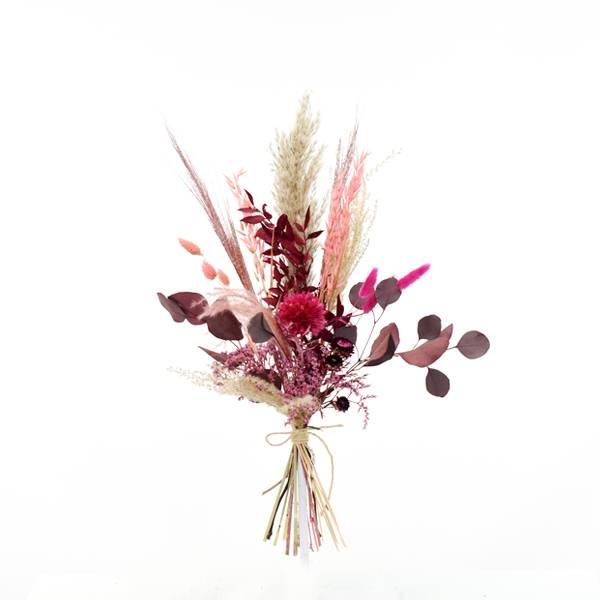 Trockenblumen natur-koralle-pink-beere