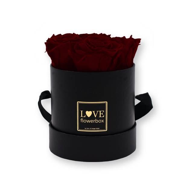 Flowerbox_rosenbox_blumenbox_rund_Small_schwarz_gold_Infinity_Rosen_burgundy_bordeaux.jpg