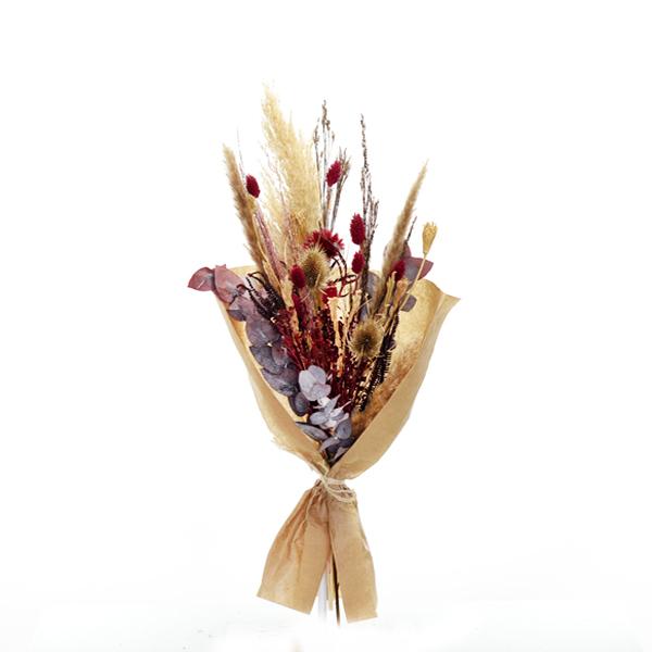 Trockenblumenstrauß Stiller Moment M | Trockenblumen natur-rot-bordeaux
