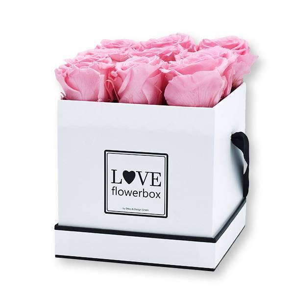 Flowerbox Modern | Medium | Rosen Bridal Pink (Hellrosa)