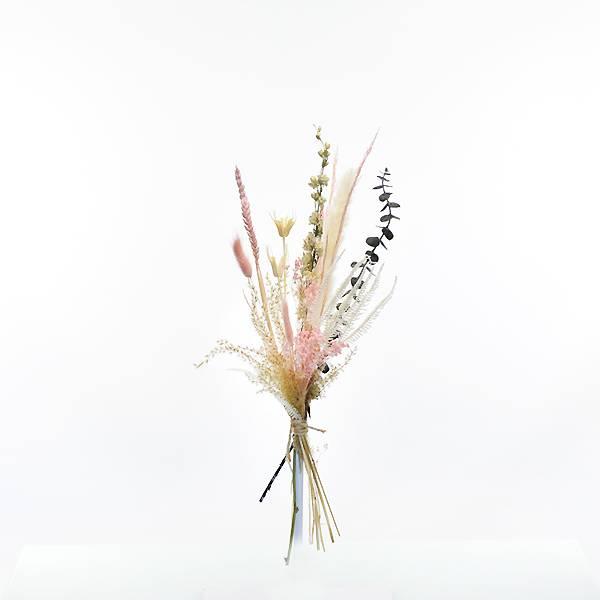 Trockenblumenstrauß Sommertraum S | Trockenblumen weiss-rosa-grün | Trockenblumen Pampasgras, Eukalyptus