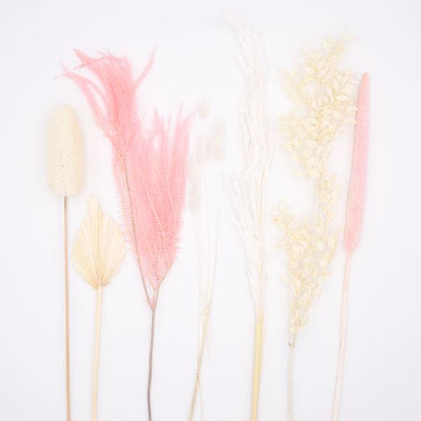 Trockenblumen Set Rosé