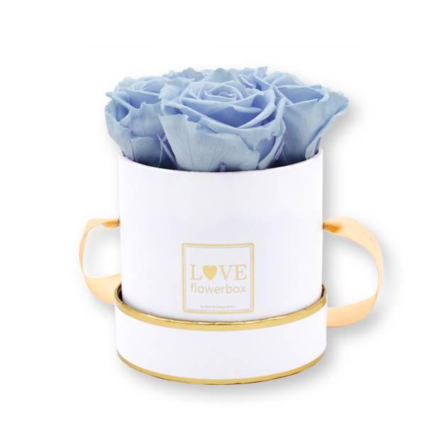 Flowerbox_rosenbox_blumenbox_rund_Small_weiss_gold_Infinity_Rosen_coollavender_lavendel_flieder.jpg