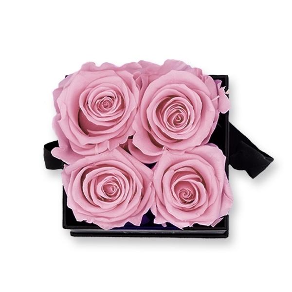 Rosenbox Infinity Rosen altrosa | Flowerbox eckig | S Modern black