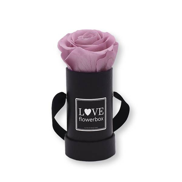 Flowerbox_rosenbox_blumenbox_rund_Mini_schwarz_Infinity_Rosen_mauve_altrosa.jpg