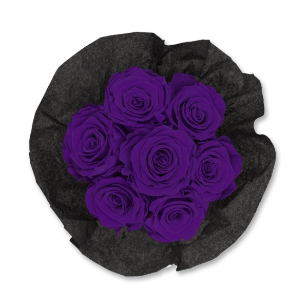 Rosenbox Infinity Rosen dunkel lila | Flowerbox | Blumenbox | S Bouquet black