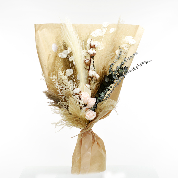 Trockenblumenstrauß Pampaszauber XL | Trockenblumen natur-pastell-rosa-grün