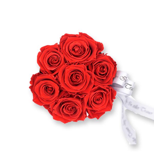 Rosenbox Trauer Infinity Rosen rot | Small | Beerdigung Trauerfeier | Geschenk Beerdigung