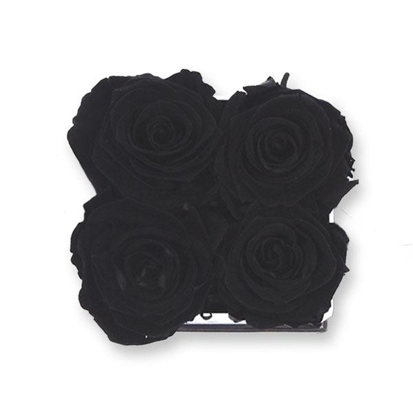 Rosenbox Infinity Rosen Schwarz   Flowerbox eckig   S Modern black