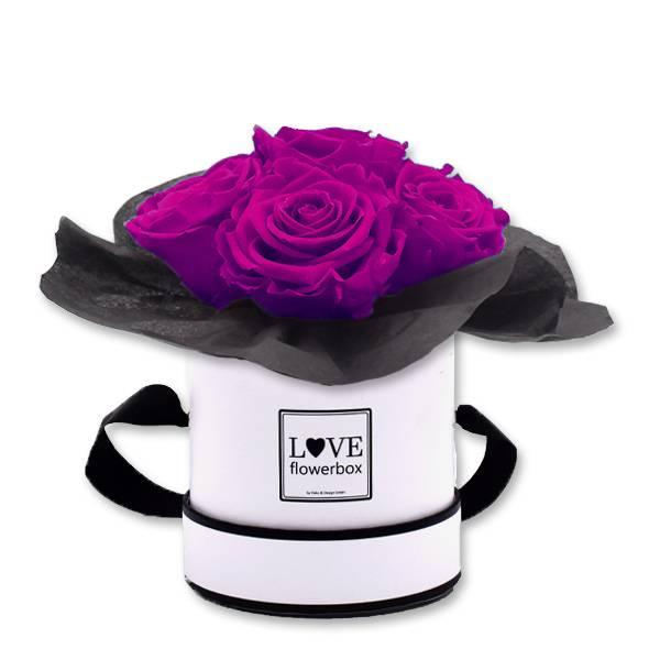 Flowerbox Bouquet | Small | Rosen Purpur (Lila)
