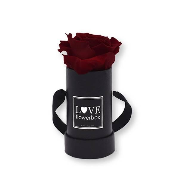Flowerbox_rosenbox_blumenbox_rund_Mini_schwarz_Infinity_Rosen_burgundy_bordeaux.jpg