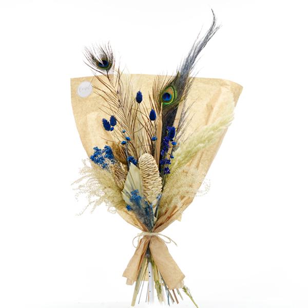Trockenblumenstrauß Blaue Oase L   Trockenblumen natur-blau