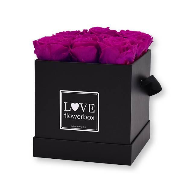 Flowerbox Modern   Medium   Rosen Purpur (Beere)