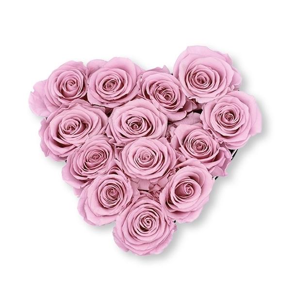 Rosenbox Herz Infinity Rosen altrosa | Flowerbox Herzbox | M black