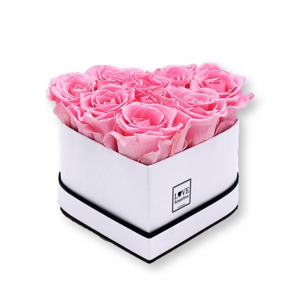 Flowerbox Herz | Small | Rosen Baby Pink