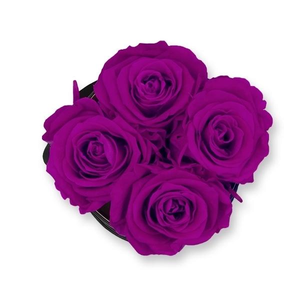 Rosenbox Infinity Rosen lila   Flowerbox   Blumenbox   S Modern black