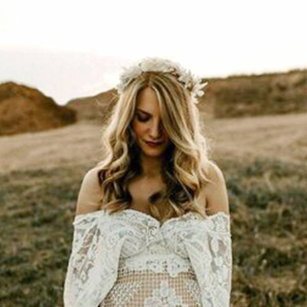 Trockenblumen Kopfkranz Braut | Trauzeugin | Hochzeit | Weisse Eleganz | weiss | Ruskus, Pampas, Lagurus