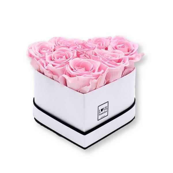 Flowerbox Herz | Small | Rosen Bridal Pink