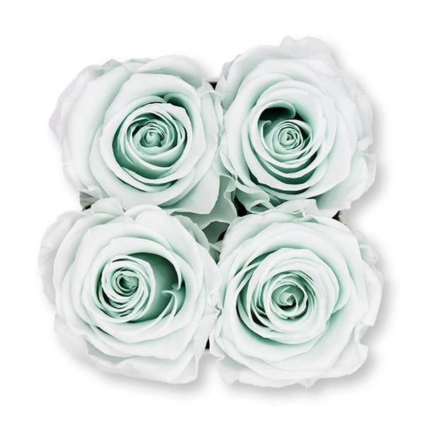 Rosenbox Infinity Rosen mint grün | Flowerbox eckig | S Modern white