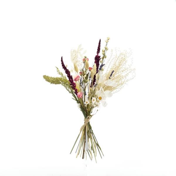 Trockenblumenstrauß Sommerliebe M | Pampasgras, Rittersporn, Strohblumen | Trockenblumen bunt-pink-lila-grün