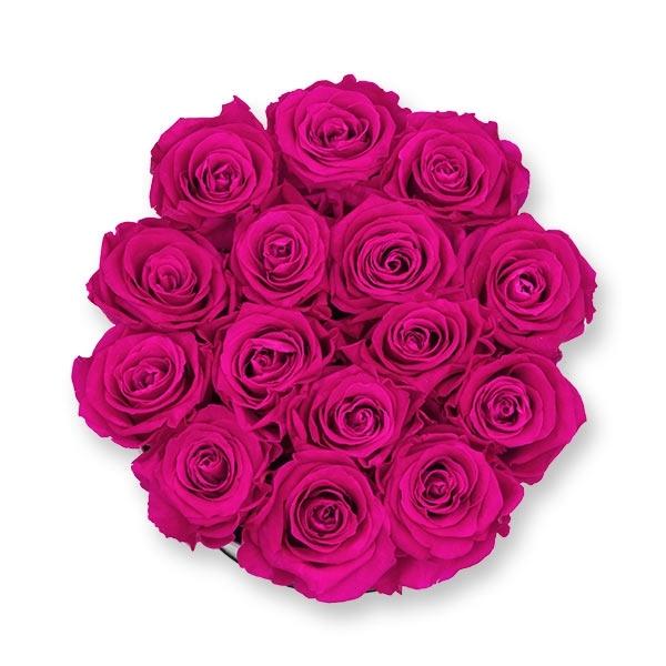 Rosenbox Infinity Rosen pink | Flowerbox | Blumenbox | L Modern white