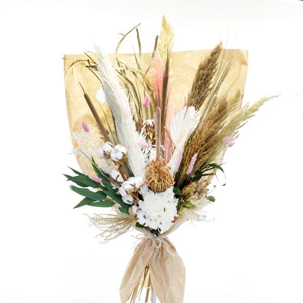 Trockenblumenstrauß Naturrausch XL | Trockenblumen weiss-natur-rosa-gruen