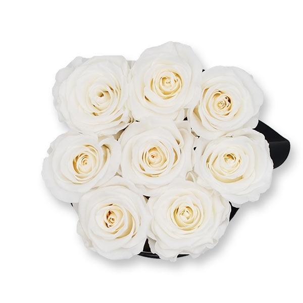 Rosenbox Infinity Rosen weiss | Flowerbox | Blumenbox | M Modern black