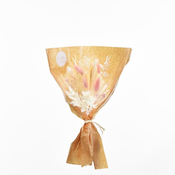 Trockenblumenstrauß Zartliebe S | weiss-ivory-natur-rosa