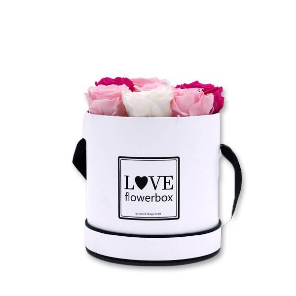 Flowerbox Modern | Medium | Rosen weiss-rosa-pink