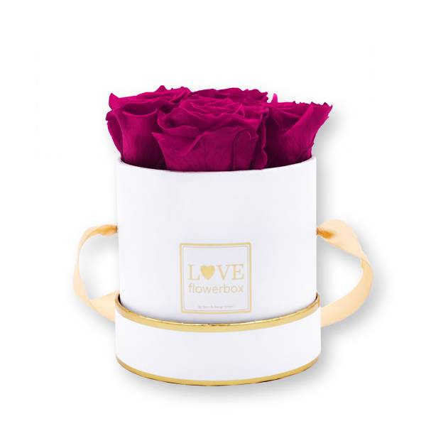 Flowerbox Modern gold | Small | Rosen Raspberry (Himbeere)