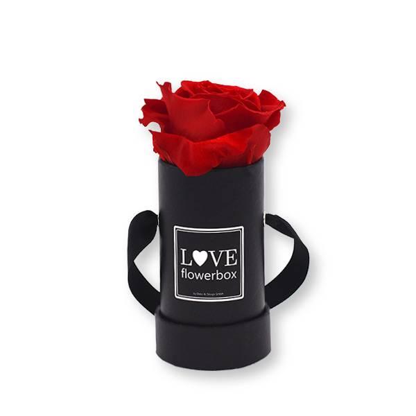 Flowerbox_rosenbox_blumenbox_rund_Mini_schwarz_Infinity_Rosen_vibrantred_rot.jpg
