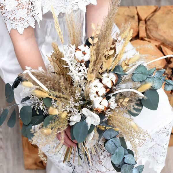 Trockenblumen Brautstrauß | Brautstrauss Trockenblumen | natur | Boho