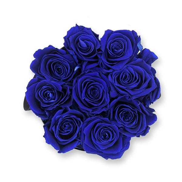 Rosenbox Infinity Rosen dunkel blau | Flowerbox | Blumenbox | M Modern black